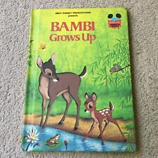 Bambi Grows Up Walt Disney World 1979 Book