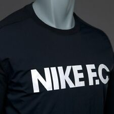 016684ac72e SZ 2XL Nike FC Soccer Futbol Messi Men s Shirt Long Sleeve Black 802433-010   80