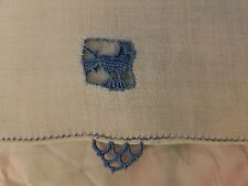 """4 VINTAGE ITALIAN RETICELLA NEEDLE LACE COCKTAIL NAPKINS - 7"""" BY 4 1/2"""""""