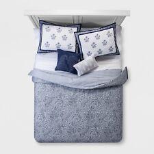 5pc Paisley Comforter Set - Blue - Full/Queen - Danica - New