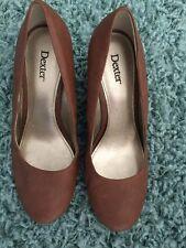 Dexter Women's Size 7 1/2W Brown Short 3 Plus Inches Platform Shoes
