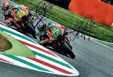 Stefan BRADL & Alvaro BAUTISTA SIGNED Autograph 2016 Aprillia Photo AFTAL COA