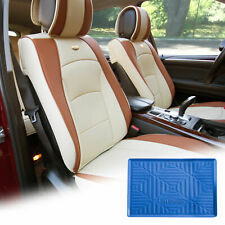 Car Leatherette Seat Cushion Covers Front Bucket Beige w/ Dash Mat For SUV