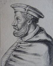 CHRISTOPHORUS CARD ; MADRUCIUS, Portrait, gravure 17 ème,. Dimensions : 90 mm X