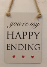 You're My Happy Ending Mini Metal Hanging Sign Girlfriend Wife Partner Gift