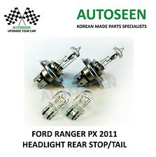 For FORD RANGER PX 2011- 2xH4 Headlight / 2xWedge T20 Double Bulbs Lamps