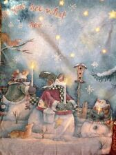 LOVELY CHRISTMAS LIGHT FIBRE Optic LED Tapestry Wall Hanging LARGE 21x28