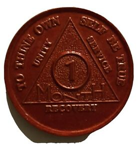 aa aluminum alcoholics anonymous 1 month recovery sobriety chip coin token