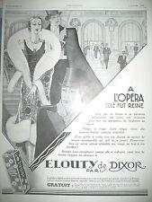 PUBLICITE DE PRESSE DIXOR LA VELOUTY OPERA DESSIN J.-J. LECLERC FRENCH AD 1929