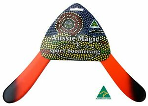 Aussie Magic SPORT Returning Boomerang Australian Made, Right Handed BLACK