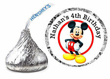 108 MICKEY MOUSE CLUBHOUSE BIRTHDAY PARTY FAVORS HERSHEY KISS LABELS
