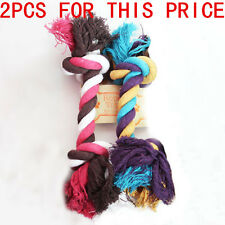 2PCS Free Shipping C37LJ Dog Pet Toy Play Funny Braided Bone Rope Chew Knot Toy