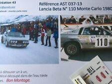 DECALC DECAL CALCA1 43 LANCIA BETA MONTE CARLO N° 110 RALLY WRC MONTE CARLO 1980