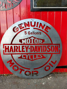 DISCOUNTED MOTOR OIL HARLEY CLEARANCE 100cm large Wall Hanging GARAGE DECOR
