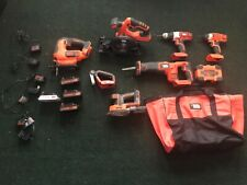 black & decker 20v combo tool set and carrying bag
