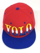 YOLO Hat Red/Blue Bill Snapback