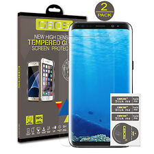 2 Pack GBOS® 100% Genuine Tempered Glass Screen Protector For Samsung Galaxy S8