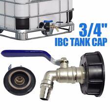 """3/4"""" IBC Container Adapter Auslaufhahn für Regenwassertank Wasserfass Regentonne"""