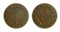 s288_29) Lucca Carlo Ludovico di Borbone (1824-1847) - 1 Soldo 1826