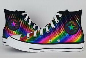 Converse womens chuck taylor all star rainbow foil print hi top sneakers