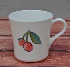 Vintage Coffee Mug Corning Ware USA Cherry Pear Fruit Basket Retro Ceramic 90s
