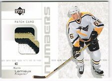2002-03 02-03 UPPER DECK UD PATCH CARD NUMBERS #PN-ML MARIO LEMIEUX !! 3 COLOR