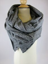 Lululemon Vinyasa Scarf Rulu Heathered Black Button Unfinished Edge Raw Gray
