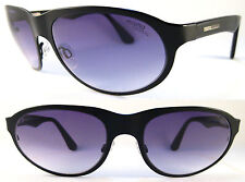 Rare Momo Design Gents Sunglasses Titanium, Spring hinges, Black/Lilac/Blue
