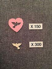CONFETTIS Papier X 450 Mariage COEURS ROSE & COLOMBES IVOIRE Déco Table AUT20IV