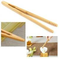 Kitchen Craft Bamboo Tool Toaster Wooden Food Salad Cooking Toast Bread Tongs🔥
