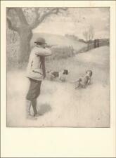 Bird Hunting with English Setter Dogs, A B Frost, antique Authentic 1904