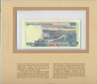Most Treasured Banknotes Indonesia 1000 Rupiah 1980 P 119 UNC Low # JQB009190