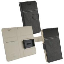 Smartphone Tasche für MEDION Life S5504 Case Hülle Mappe Etui schwarz
