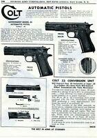 1950 Print Ad of Colt Government Model .45 Auto Pistol & .22 Conversion Unit