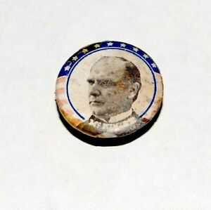 1896 WILLIAM MCKINLEY STUD campaign pin pinback button political SWEET CAPORAL