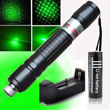 Bolígrafo Puntero Láser Verde 1mw Lazer Zoom Luz + Cargador de batería