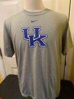 Nike Team Dri Fit University Kentucky UKFootball Logo T-Shirt Gray Mens Large