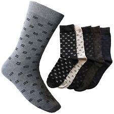 Calcetines Caballero Puntos Negro Gris Calidad Hombre Algodón Fuertes Vestir Top