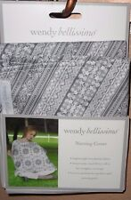 """WENDY BELLISSIMO BABY NEUTRAL DESIGN NURSING COVER 30""""X 40"""" BREATHABLE FABRIC"""