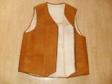 sheepskin waistcoat mens vest shearling gilet schaffell lammfell weste herren