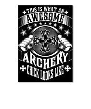 Archery Chick Funny Gift Sticker - Portrait