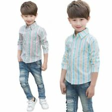 T-shirts et hauts coton mélangé sans marque à manches longues pour garçon de 2 à 16 ans