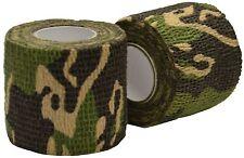 2x 5 cm x 4,5 m Woodland Camouflage Wrap Fucile / Pistola CACCIA MIMETICO STEALTH NASTRO
