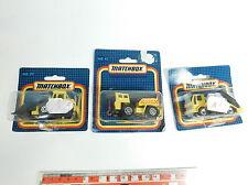 BB793-0,5# 3x Matchbox Modèle MB 29 Chargeur à roues + mb 45 CAMION + MB 42, W+