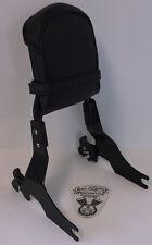 Harley Davidson Black Detachable Sideplates, Sissy Bar, Slip-Over Backrest Pad