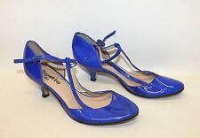 Repetto femme bleu royal cuir verni Chaton Talon Mary Jane Chaussures UK6 EU39