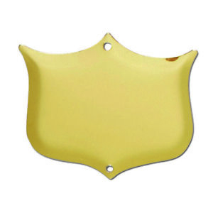 Trophy Side Shield (S029) - Gold  - With Free Engraving