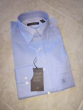 Tasso Elba Men's Blue Herringbone Dress Shirt Size 15 32/33, New!