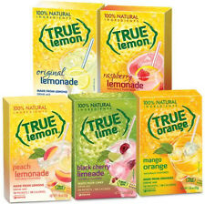 True Citrus Lemonade Limeade Drink Mix Sampler 5pk Lemon Lime Orange Mango Peach