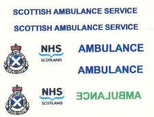 9 X SCOTTISH AMBULANCE SERVICE DECAL FOR CODE 3 models suit lledo model ambulanc
